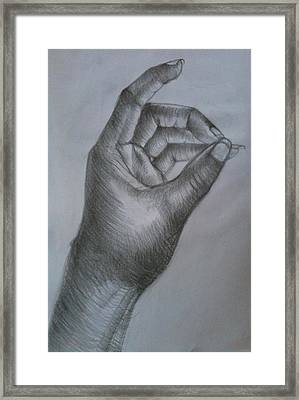 Hand Composition Framed Print by Olaoluwa Smith
