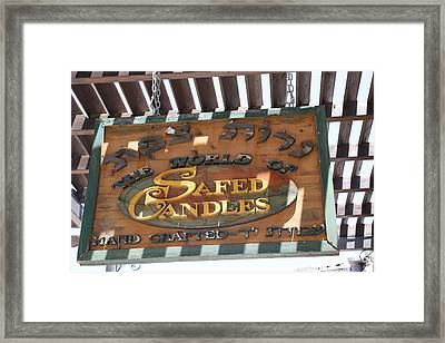 Framed Print featuring the photograph Hand Crafted Candle Shop by Julie Alison
