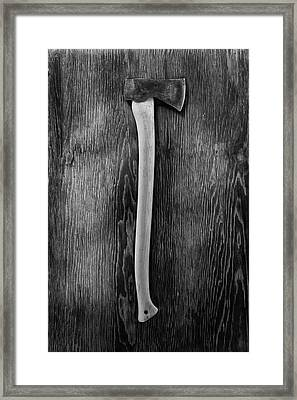 Hand Forged Axe II Framed Print by YoPedro