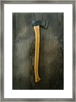 Tools On Wood 12 Framed Print by Yo Pedro