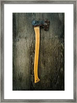 Tools On Wood 11 Framed Print by Yo Pedro