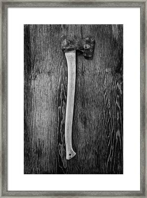 Hand Forged Axe Framed Print by YoPedro