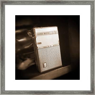 Hand Held Transistor Radio Framed Print by Mike McGlothlen
