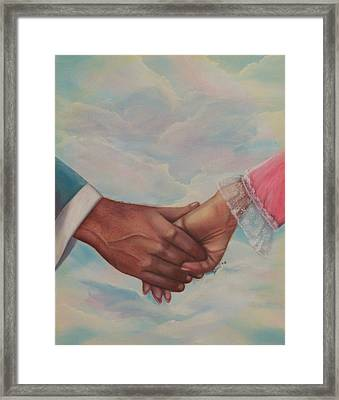 Hand In Hand Forever Framed Print by Joni McPherson