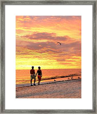 Hand In Hand Framed Print by Marty Koch