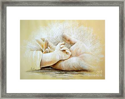 Hand In Hand Framed Print by Miki De Goodaboom