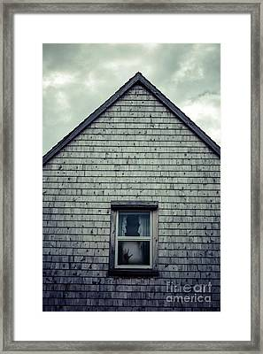 Hand In The Window Framed Print