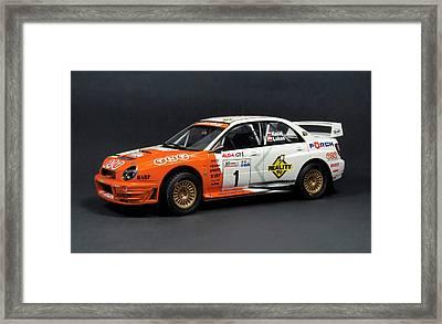 Hand Made Model Subaru Impreza Wrc 2001 Scale 1 24 Framed Print