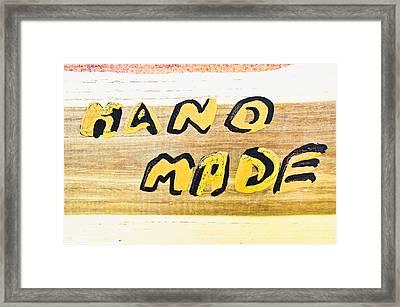 Hand Made Sign Framed Print