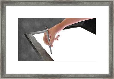 Hand Of An Artist Framed Print by Michael Mills