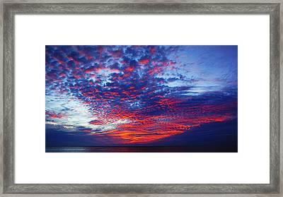 Hand Of God At Sunrise Framed Print