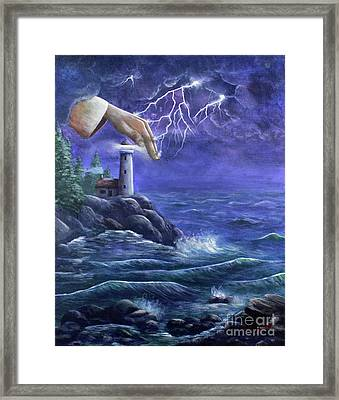 Hand Of Protection Framed Print by Kristi Roberts