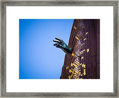 Hand On My Time Framed Print