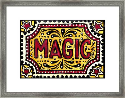 Framed Print featuring the painting Hand Painted Magic  by Nada Meeks