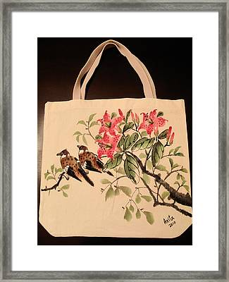 Hand-painted Tote Bag Framed Print by Anita Lau