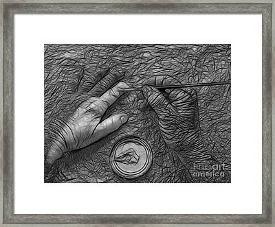 Hand Painting Framed Print