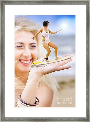 Hand Surfer Framed Print by Jorgo Photography - Wall Art Gallery