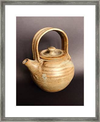 Hand Thrown Teapot Framed Print