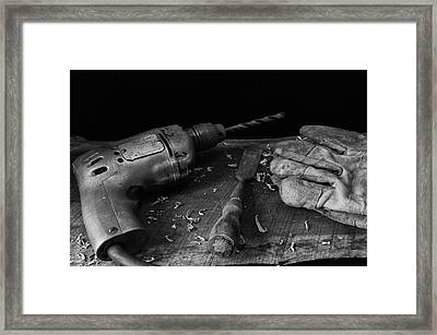 Framed Print featuring the photograph Hand Tools 3 by Richard Rizzo