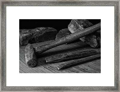 Hand Tools 4 Framed Print by Richard Rizzo
