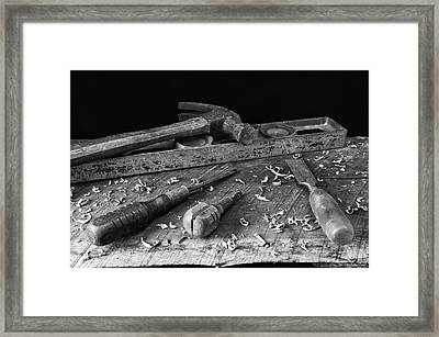 Framed Print featuring the photograph Hand Tools 2 by Richard Rizzo