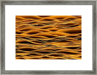 Hand Torn Paper Framed Print by Jim Hughes