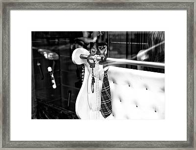 Handcuff And A Tie Mono Framed Print by John Rizzuto