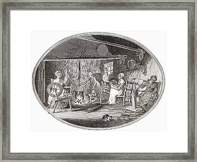 Handicrafts In The 18th And 19th Framed Print by Vintage Design Pics