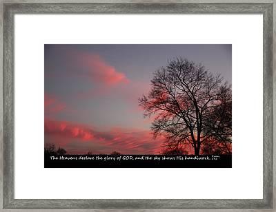 Handiwork Of God Framed Print by EricaMaxine Price
