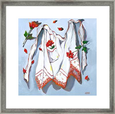 Handkerchief Apron Framed Print by Susan Thomas