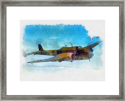 Handley Page Hampden Wwii  Framed Print by Esoterica Art Agency
