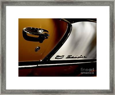 Handling The Bel Air  Framed Print by Steven  Digman
