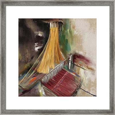 Handloom 192 1 Framed Print by Mawra Tahreem