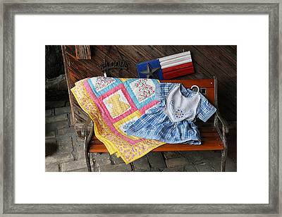 Handmade Crafts Framed Print by Linda Phelps