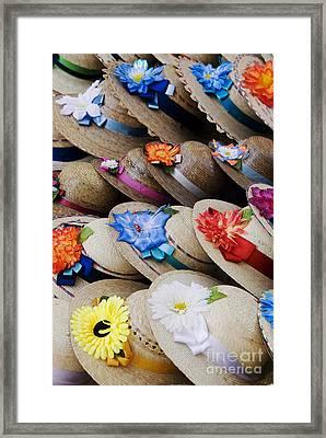 Handmade Hats Framed Print by Gloria & Richard Maschmeyer - Printscapes
