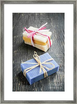 Framed Print featuring the photograph Handmade Soaps by Elena Elisseeva