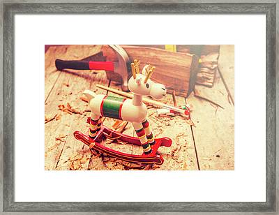 Handmade Xmas Rocking Toy Framed Print