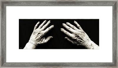 Hands  -  Stark  Reality - Photo  Framed Print