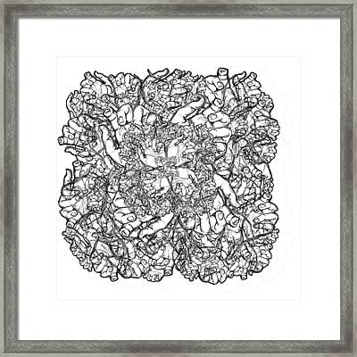 Hands Framed Print by Alysa Sheats