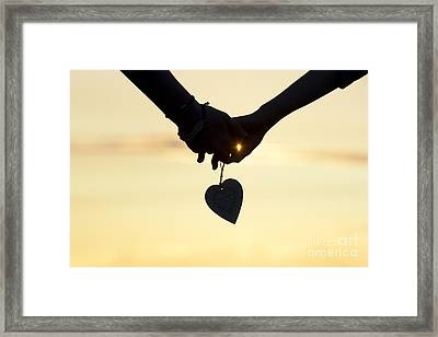 Hands And Heart  Framed Print