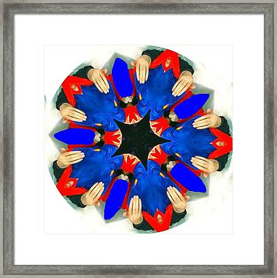 Hands Framed Print by Contemporary Art