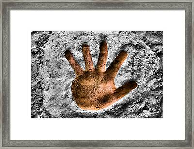 Hands Down Framed Print by Karen Scovill