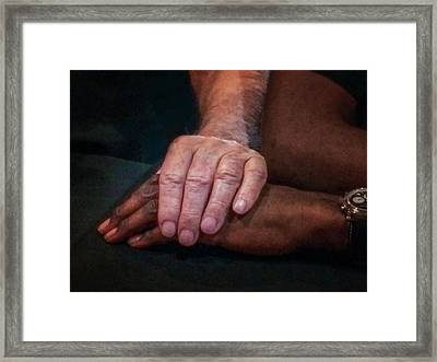 Hands For Marian Framed Print by Terry Davis