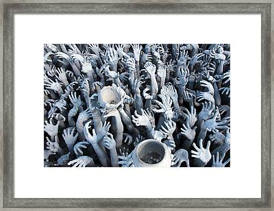 Hands From The Hell Framed Print by Davide Abbatiello