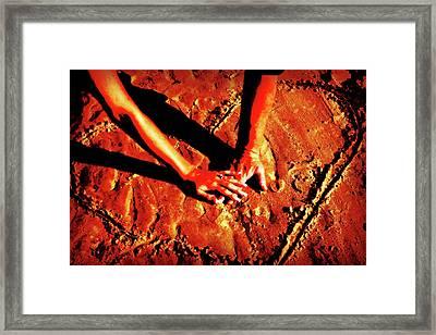 Hands In Love Framed Print