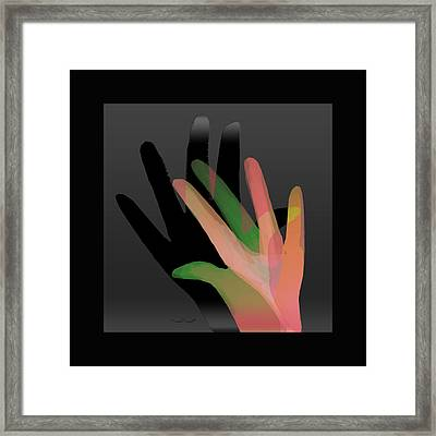 Hands In Pair Framed Print
