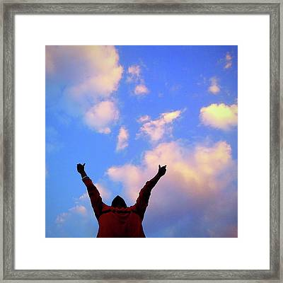 Hands In The Air Framed Print