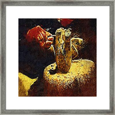 Hands Of An Artist - Gothic Oil Framed Print by Dale Stillman