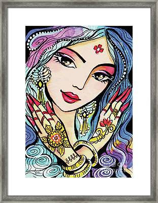 Hands Of India Framed Print by Eva Campbell