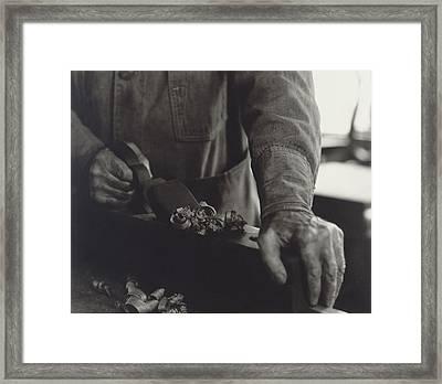 Hands Of Shaker Brother Ricardo Belden Framed Print by Everett